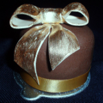 Golden Bow Chocolate Mini Cake