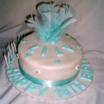 Feather Top Cake