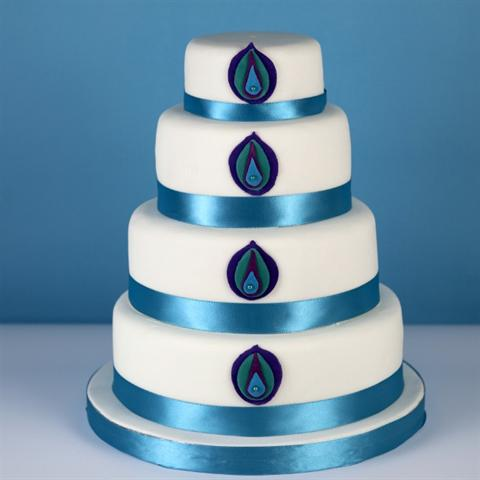 Peacock Wedding Cake.Delights By Cynthia Cakes For Celebrations Weddings And