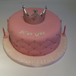 Princess Pearl Cake with stand-up crown