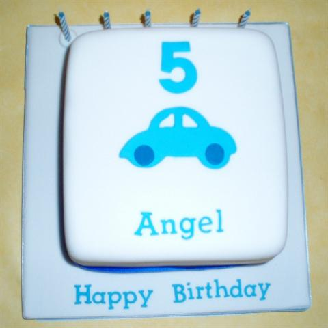 Little Car Birthday Cake
