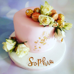 Rose and Gold Leaf cake