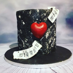 Gothic Heart Cake